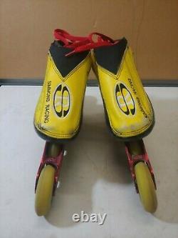 Simmons Boots Inline Speed Skates Womens Mogema Racing Frames 80 mm Wheels USED