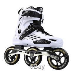 Speed Inline Roller Skates Professional Half Boots Skating Shoes 3110mm Wheels