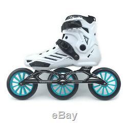 Speed Inline Skate High Ankle Roller Skates 3x125mm Wheels Marathon
