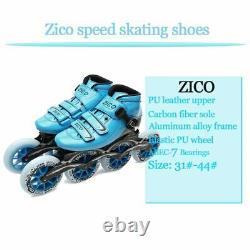 Speed Inline Skates Carbon Fiber 490/100/110mm Competition 4 Wheels Street