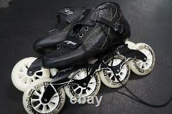 Speed Inline Skates Carbon Fiber Competition 4 Wheels Street. SIZE 45. USA 11ish