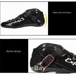 Speed Inline Skates Carbon Fiber Racing Skating Patines Professional 4 110mm