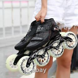 Speed Skates Carb Fiber 490/100/110mm Professional Inline Skates 4 Wheels