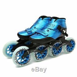 Speed Skates Carbon Fiber 490/100/110mm Professional Inline Skates 4 Wheels