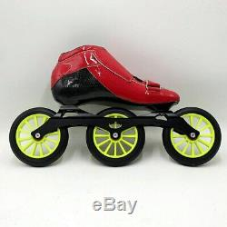 Speedskates STS Skating manual inline speed skating shoes red and green roller