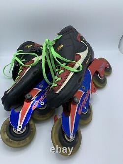 Tour GT-900 Tecra Carbon Inline Speed Skates With Bonte Slingshot Frames Sz 8 1/2