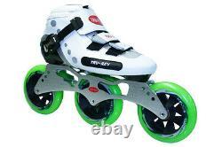 TruRev 3 wheel Inline Speed Skate complete package. Size 4 swiss bearings