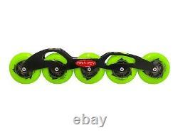 TruRev Inline Speed Skate 5 wheel Frame with 90mm wheels SWISS Bearings