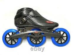Trurev Carbon Fiber Pro Inline Speed Skating Skate 3 Wheel Carbon Fiber Frame