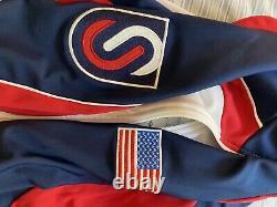 Under armor US speedskating ice national team suit warm up L olympics inline