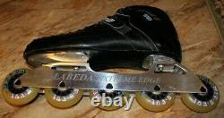 VINTAGE Riedell 201 TS Inline Speed Skates 9 Roller Blades Labeda Extreme