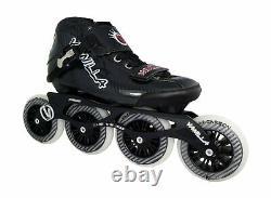 VNLA Carbon Speed Roller Inline Skates Adjustable Inline Skates Black, B