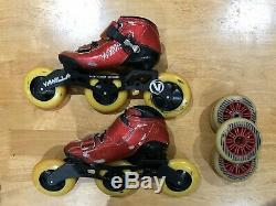 VNLA Vanilla Carbon Inline Competition 7000 Speed Skates Red Size 1