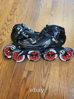 Vanilla Assasin Carbon Boot Inline Speed Skates Men's Size 11