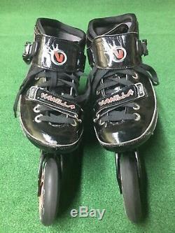 Vanilla Assassin 7000 Series Racing Speed Inline Skates Size 8 4x100 195mm 12.4