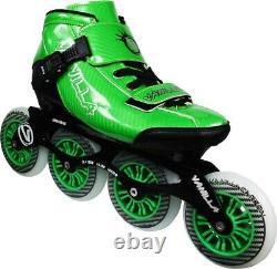 Vanilla Carbon Comp. Inline Speed Skates Green Men's Sz. 12/Lad. Sz. 13 NIB