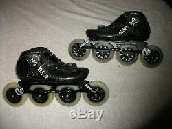 Vanilla Carbon Competitive Inline Speed Skates Black Size Us M06/l07 Very Unique