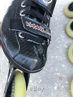 Vanilla Carbon Competitive Inline Speed Skates Black Size Us M07l08 Very Unique