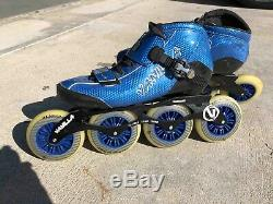 Vanilla Carbon Competitive Inline Speed Skates Blue Size US 9