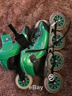 Vanilla Carbon Green 3 or 4 Wheel Inline Speed Skate