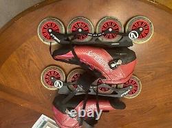 Vanilla Carbon Red 4 Wheel Inline Speed Skate mens size 11