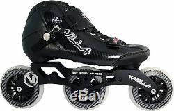 Vanilla Carbon Speed Inline Skates Boys Black Size 1-5 3X100mm Wheels