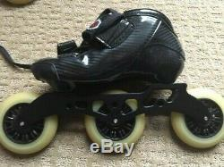 Vanilla Competitive Inline Speed Skates Black Size Us 4