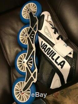 Vanilla Flash Inline Speed Skates Size 9 White/Black