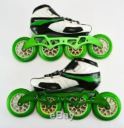 Vanilla Green Machine Speed Inline Skates (Size 7) White Carbon-Fiber 110mm