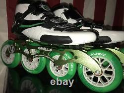 Vanilla Inline Green Machine Speed Skates 4-wheel Size 11 Nib