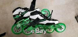 Vanilla Inline Speed Skates Green, White, and Black, Size 8 Womens