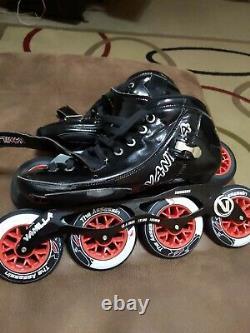 Vanilla assassin carbon black 4 x 110 Inline Speed Skate size 12