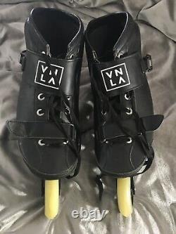 Vanilla inline speed skates 4 Wheel Speed Skates Mens Size 12 Black & White