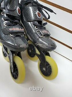 Vanilla inline speed skates mens size 8 womans 9 light weight carbon fiber