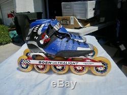 Verducci V-Tek Inline Speed Skates 5 Wheels Boen UltraLite 2000 Plates Size 9