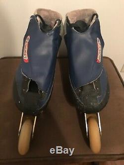 Vintage Bont In-line Speed Skates Carbon Fiber Elite Racing Wheels Size 10 44