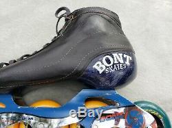 Vintage Bont Inline 5-Wheel Speed Racing Skates, Rollerblades Bont Sz 9.5 EU 43