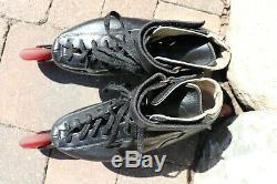 Vintage Raps Speed Inline Skates Leather Boot Edge Master Hyper 83A 78MM EU 39