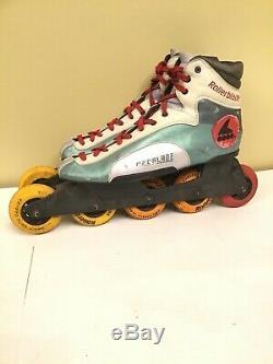 Vintage Rare Rollerblade Padblade Mens Inline 5-wheel Speed Skates sz 10 1/2