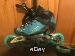 Womans 9 Bont Semi Race Inline Speed Skates Heat Mouldable Boots