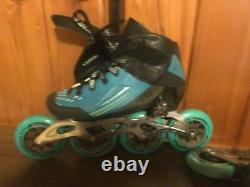 Womans 9 Bont Semi Race Inline Speed Skates Heat Mouldable Boots