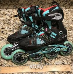 Women's K2 VO2 90 Pro X-Training Inline Skates With Speed Lacing Size 8 Rare