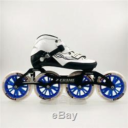 Worth Carbon Fiber Fiberglass Speed Inline Skates White Kid's Adult Competition