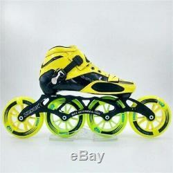 Worth! Carbon Fiber Fiberglass Speed Inline Skates Yellow Kid's Adult