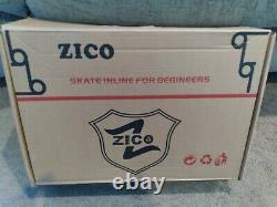 ZICO Speed Inline Roller Skates Carbon Fiber Professional 4 Wheels Racing size10